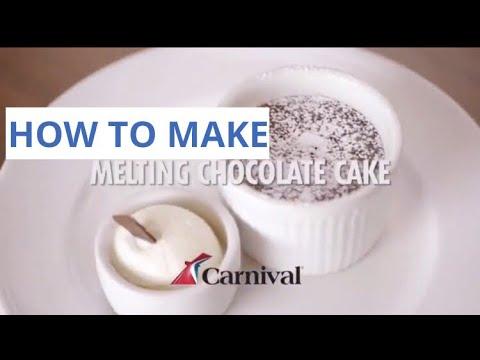 How To Make CARNIVAL CRUISE LINE Warm Chocolate Melting Cake