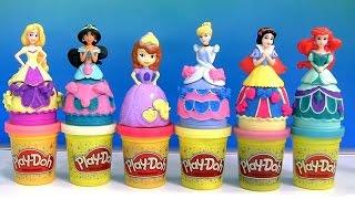 Massinhas Play Doh com Glitter Princesas Branca de Neve e Sofia TOYSBR | Play Doh Sparkle Magiclip