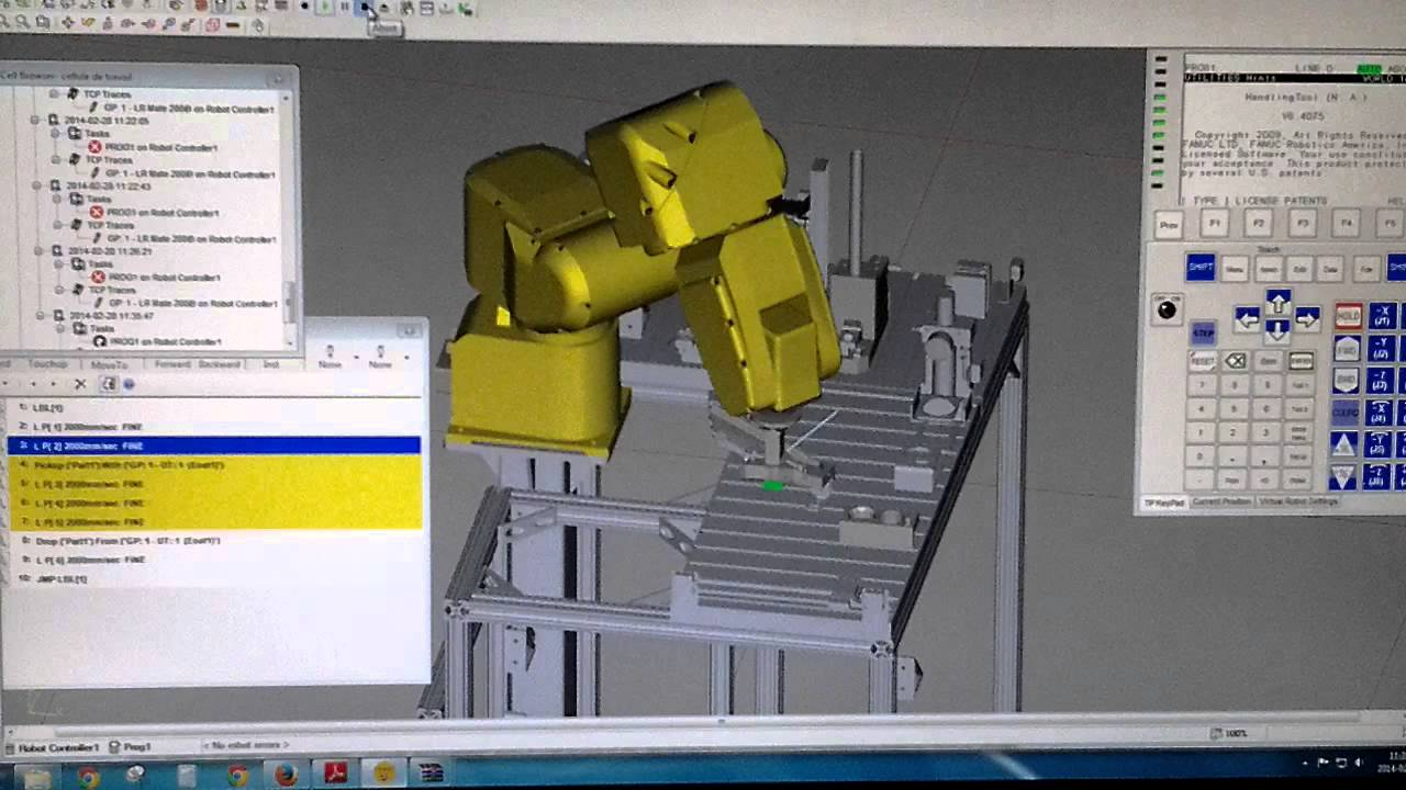 how to get a fanuc robot out of hold
