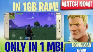 [1MB OBB FILE] How To Download Fortnite For Android Only 1mb by epic games [must watch]