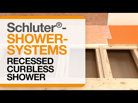 How To Recess A Floor For A Curbless Shower With The Schluter®-Shower System