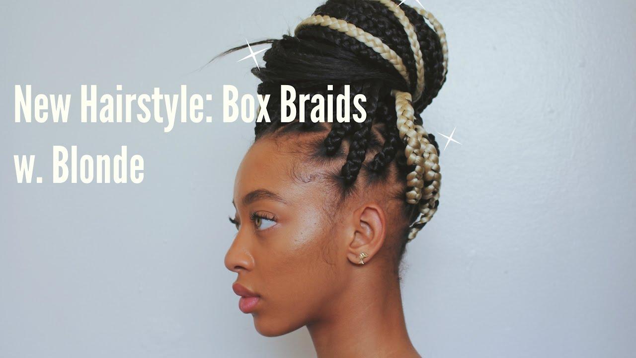 Box Braids Hairstyles Youtube: New Hairstyle: Box Braids W. Blonde