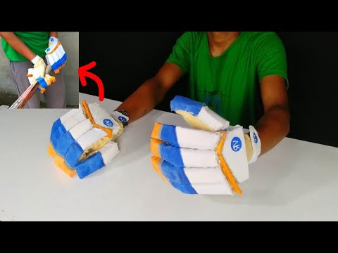 How to make cricket 🏏 gloves at home | Super easy DIY | RV world
