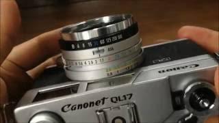 Canon Canonet QL17 動作確認