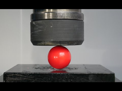 Crushing Billiard/ Snooker Balls with Hydraulic Press