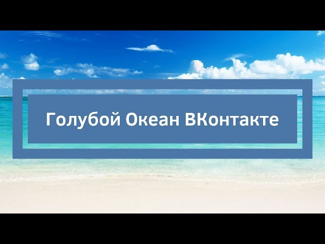 Голубой Океан ВКонтакте интервью Александр Новиков и Ольга Аринина