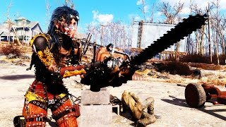 FALLOUT 4 MODS - WEEK 24 Chainsaws, Flying Travel, Construction Power Armor More
