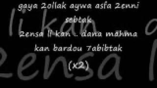 Hany Shaker kelmetein + lyrics / هاني شاكر - كلمتين