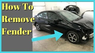 2012 2013 2014 2015 -- Honda Civic -- How to Remove Fender Removal Install Replace