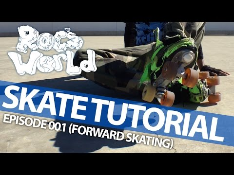 Skating with the best! Roc's World Skate Tutorials (B2B - Ep. 001: Rolling Forward & How to Fall)