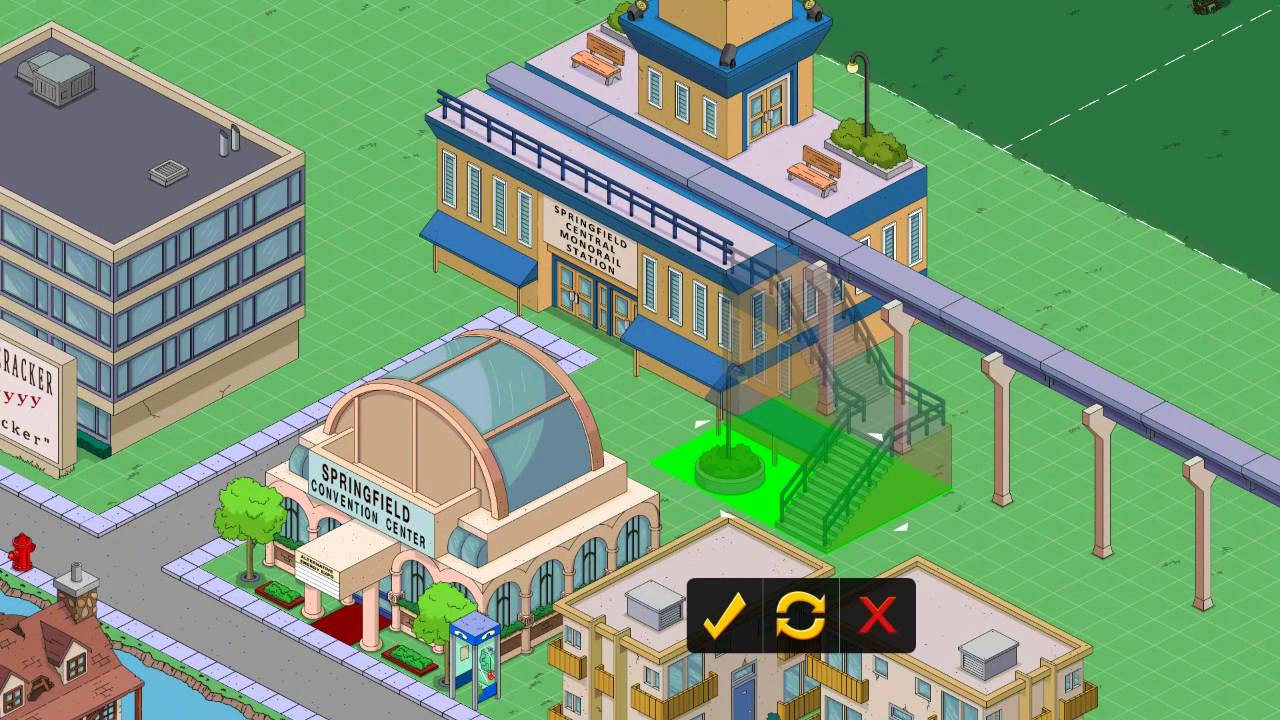 Tapped Out Building Mode