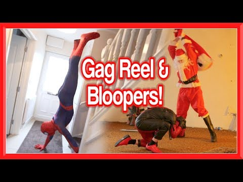 GAG REEL & BLOOPERS | Spiderman, Santa & Deadpool Fails & Bails
