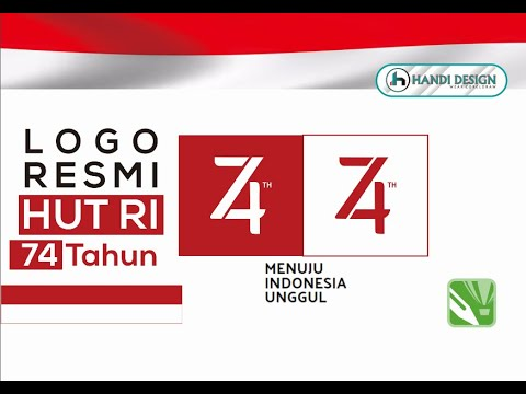 Cara Membuat Logo Hut Ri Ke 74 Youtube