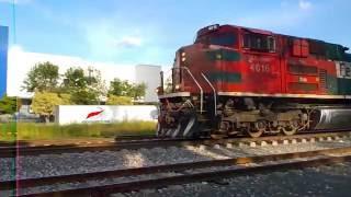 Ferromex 4016, orejona 4126, ex FNM 2019 y 3216 mixto pasando por las Juntas Tlaquepaque Jalisco