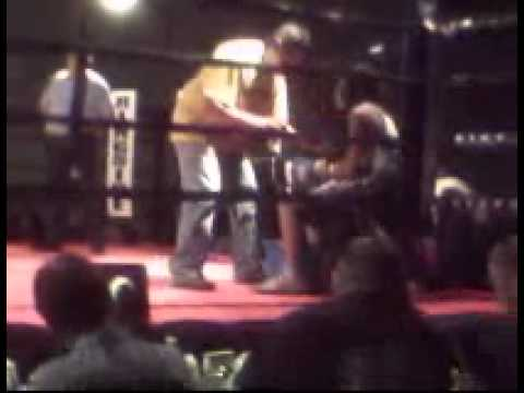 12 year old boy wins 1st boxing match!!! (blue and white trunks)
