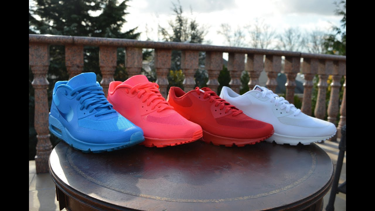 Air Max 90 Solar Red And Space Blue NIKEID AND Air Max 90 Independence Day  Review 0f72e33dd