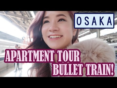 Bullet Train & Airbnb Japan Apartment Tour | First Day in Osaka