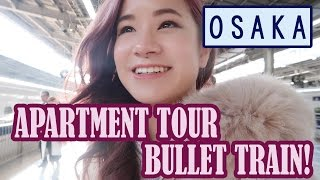 Gambar cover Bullet Train & Airbnb Japan Apartment Tour | First Day in Osaka