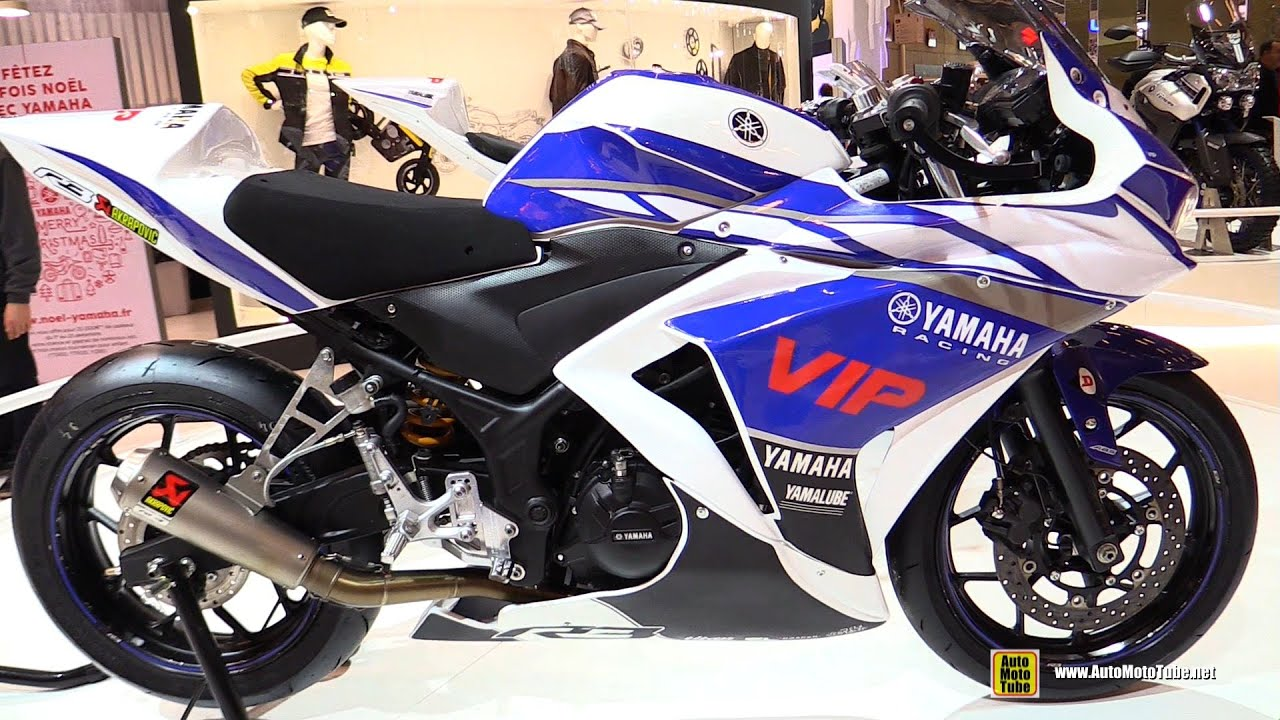 moto yamaha bike. 2016 Yamaha R3 Racing Bike - Walkaround 2015 Salon De La Moto Paris S