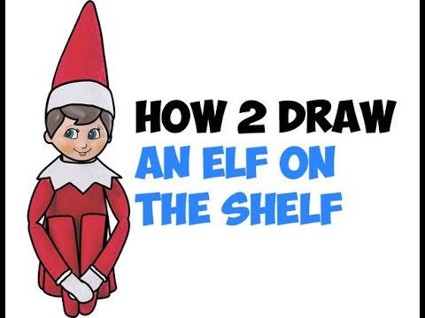 How to Draw The Elf On The Shelf Easy Step by Step Drawing Tutorial for Beginners