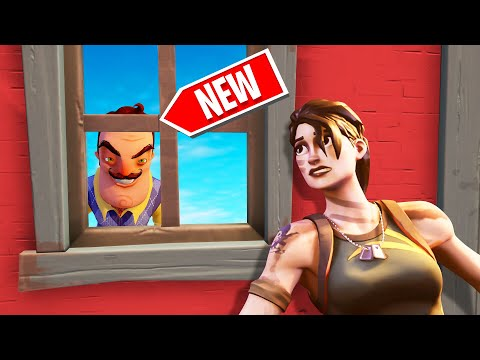 Playing HELLO NEIGHBOUR In FORTNITE! (Custom Game Mode)