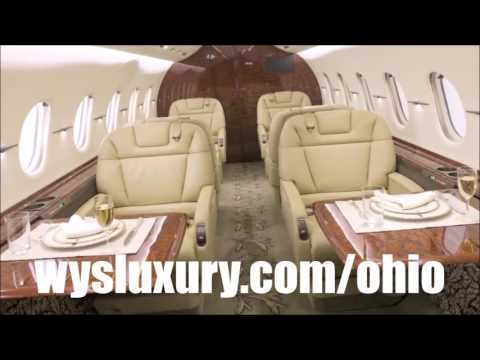 Private Jet Air Charter Flight Service From or To Columbus, Cleveland, Cincinnati or Toledo, Ohio
