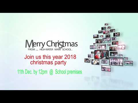 High-Water Mark School Christmas Party Invitation