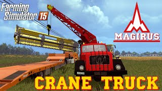 Farming Simulator 2015 mod MAGIRUS 200D26A 6X6 Crane Truck