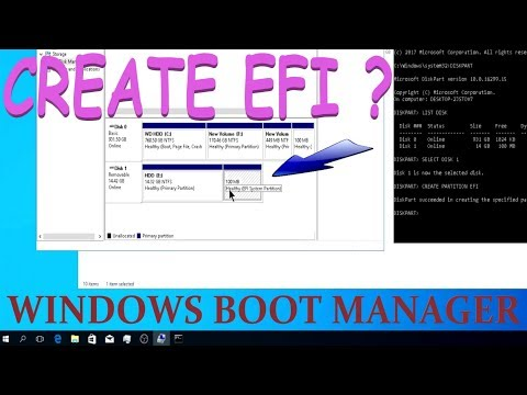 HOW TO CREATE EFI SYSTEM PARTITION ? SOLVED!