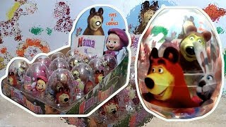 Маша и Медведь Masha and The Bear Masha i Medved 12 Giant Kinder Surprise Eggs thumbnail