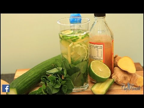 Detox Water Drink For 5 Days And Lose Weight ,Mint Lemon Ginger | Recipes  By Chef Ricardo