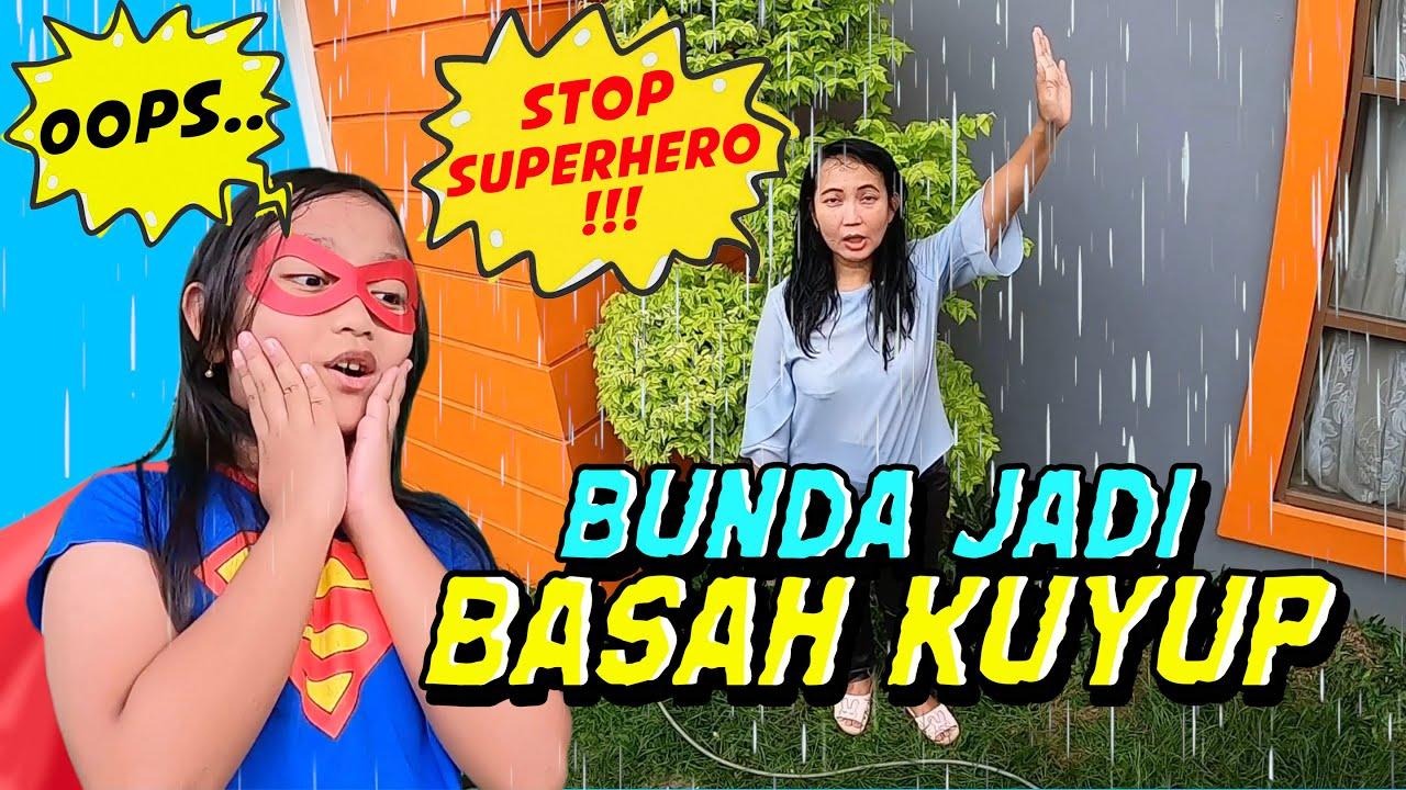 Drama Superhero Panggil Hujan, Bunda Jadi Basah Kuyup | feat. Olike LCD Drawing Board & Piano