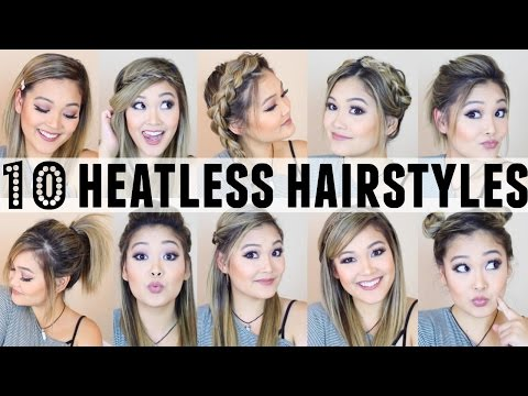 10 Heatless Hairstyles for BACK TO SCHOOL