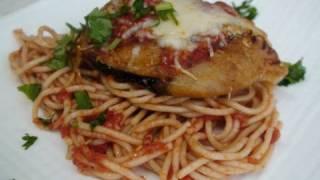 Eggplant Parmesan (eggless)