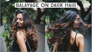 Hair Colour Transformation - Balayage Highlights on Dark Hair | Alisha Mishra