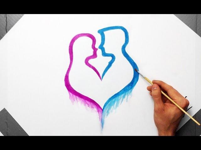 Drustvena Dinamika Usz Youtuber Fan Art Love Drawing Painting Human Heart With Watercolor Pencils Youtube