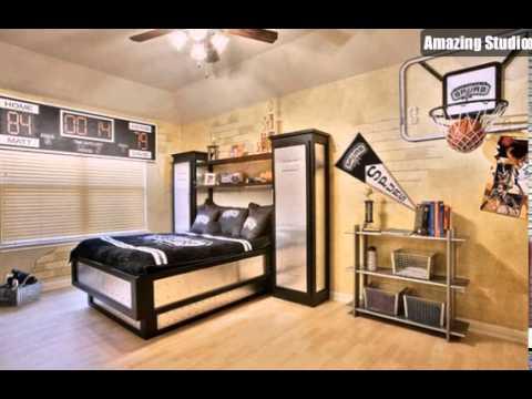 Kids Bedroom With Basketball Themes