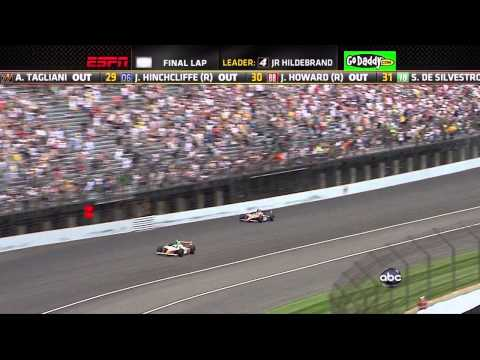Indy 500 Race  2011 Winner  Exciting Final 4 Laps  Down to Last Turn