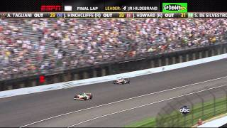 Indy 500 Race - 2011 Winner - Exciting Final 4 Laps - Down to Last Turn