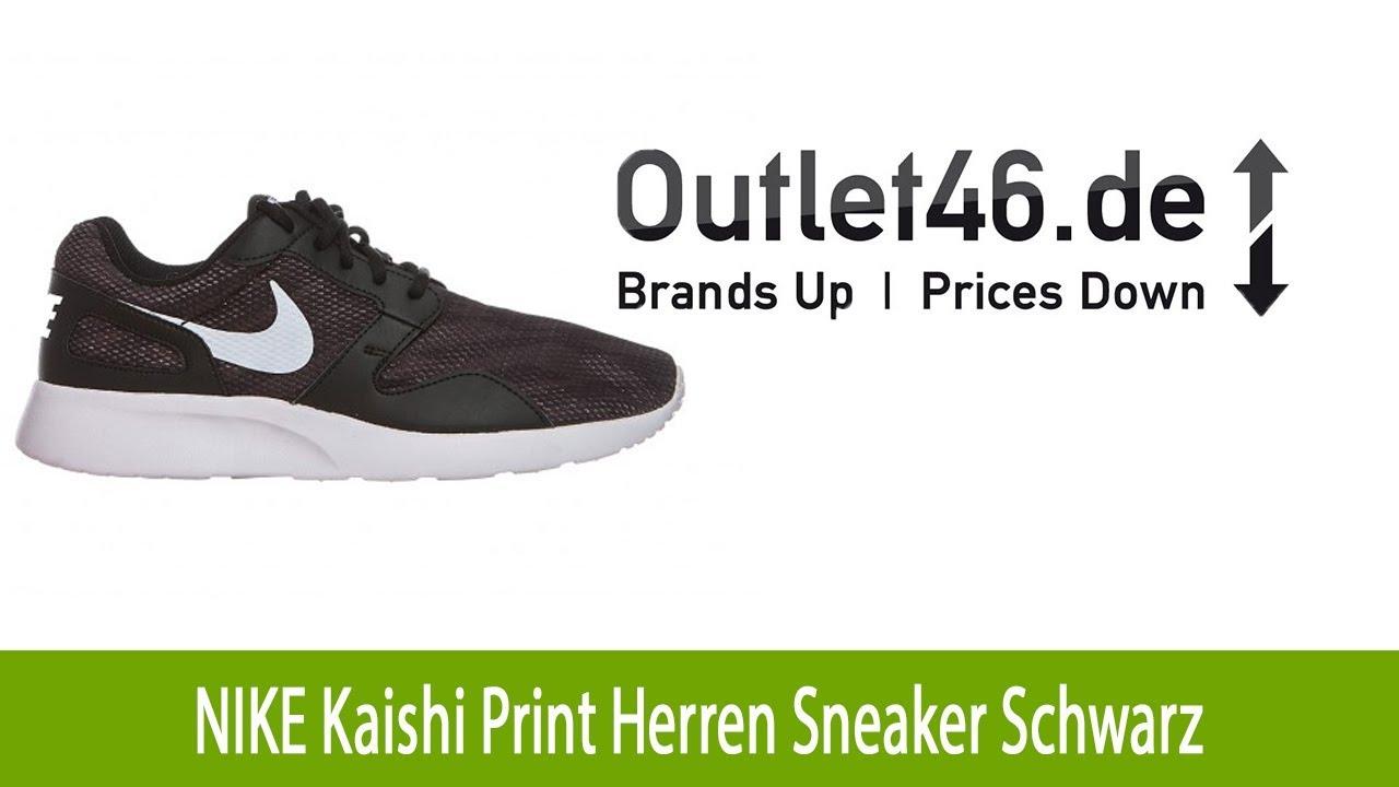 competitive price 5e4d4 daa73 Moderner NIKE Kaishi Print Herren Schuh Sneaker Schwarz l Outlet46.de