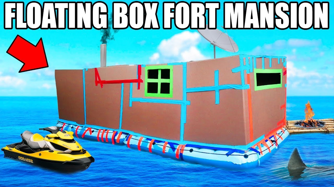 24 HOUR BOX FORT BOAT MANSION CHALLENGE SEADOO GAMING