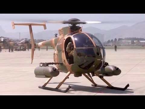 Afghan Air Force's Newest Weapon Against Terrorists: MD-530F Close Air Attack Helicopter