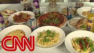 CNN's Phil Han takes a look at what some athletes have to eat in or...