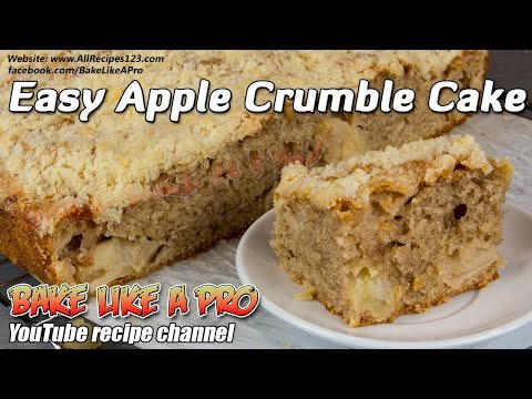 Easy Apple Crumble Cake Recipe ! - You will LOVE THIS !