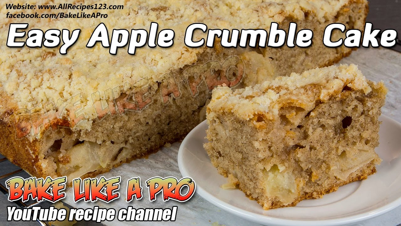 easy apple crumble cake recipe you will love this. Black Bedroom Furniture Sets. Home Design Ideas