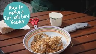 How To Make A Fat Ball Bird Feeder