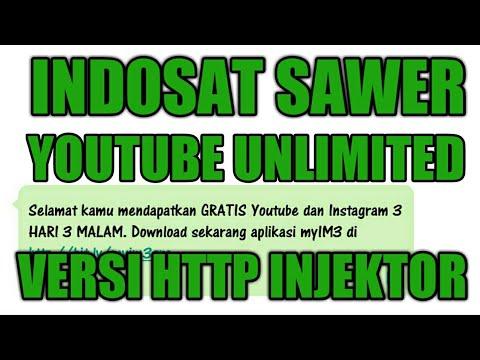 Indosat Sawer Youtube Unlimited Versi Http Injektor Youtube