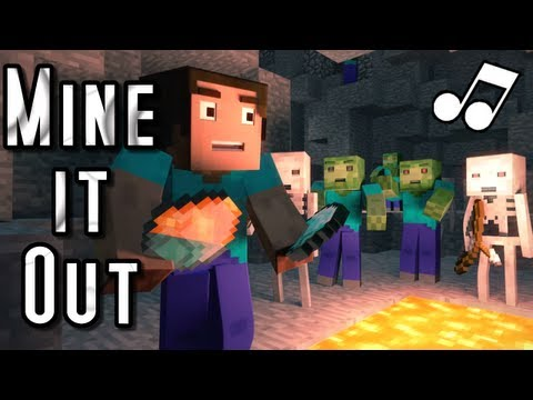 """♪ """"Mine It Out"""" - A Minecraft Parody of will.i.am's Scream and Shout (Music Video)"""