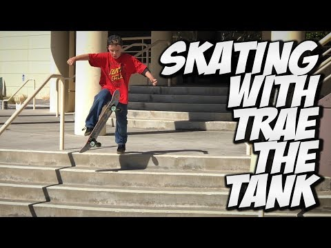 SKATING WITH TRAE THE TANK !!! - A DAY WITH NKA -