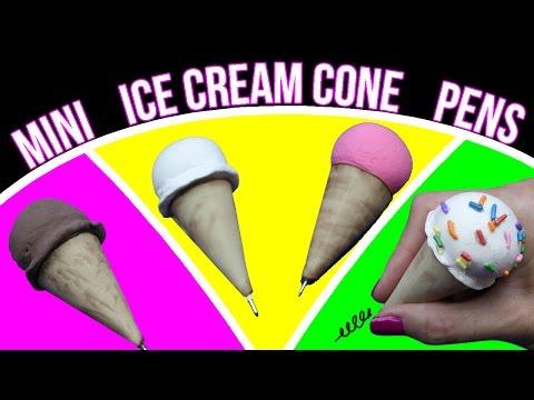 DIY Miniature Ice Cream Cone Pens! How To Decorate Your Pens!
